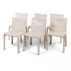 Six White Mario Bellini Cab 412 Side Chairs - 1507339