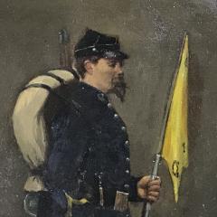 Small 19th Century Portrait of Infantryman Signed Heymark - 1700264