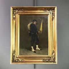 Small 19th Century Portrait of Infantryman Signed Heymark - 1700266