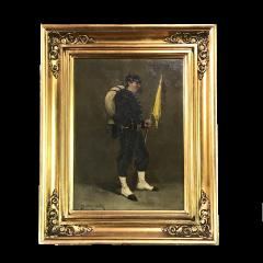 Small 19th Century Portrait of Infantryman Signed Heymark - 1700268