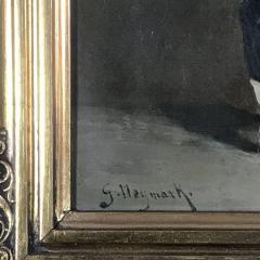 Small 19th Century Portrait of Infantryman Signed Heymark - 1702485