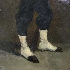 Small 19th Century Portrait of Infantryman Signed Heymark - 1702486