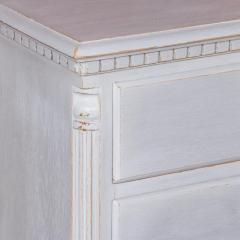 Small Antique White Painted Swedish Chest of Drawer - 934953