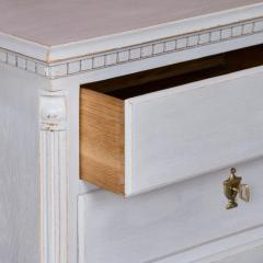 Small Antique White Painted Swedish Chest of Drawer - 934954