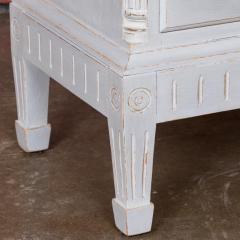 Small Antique White Painted Swedish Chest of Drawer - 934955