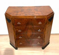 Small Art Deco Commode Chest Walnut Veneer and Brass France circa 1930 - 1958821