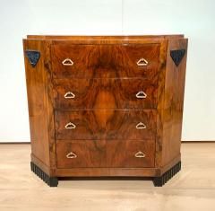 Small Art Deco Commode Chest Walnut Veneer and Brass France circa 1930 - 1958822