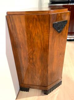 Small Art Deco Commode Chest Walnut Veneer and Brass France circa 1930 - 1961786