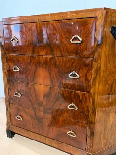 Small Art Deco Commode Chest Walnut Veneer and Brass France circa 1930 - 1961789