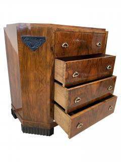 Small Art Deco Commode Chest Walnut Veneer and Brass France circa 1930 - 1961793