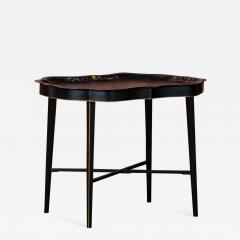 Small Black Painted Swedish Tray Table - 1003261
