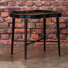 Small Black Painted Swedish Tray Table - 955414