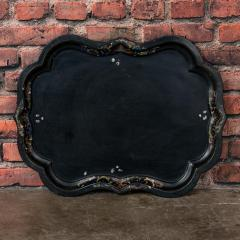 Small Black Painted Swedish Tray Table - 955416