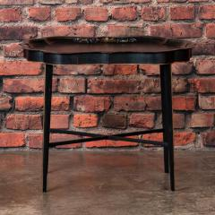 Small Black Painted Swedish Tray Table - 955420