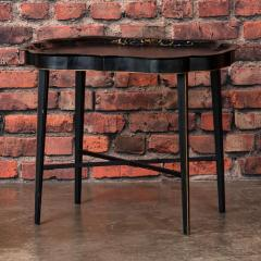 Small Black Painted Swedish Tray Table - 955422