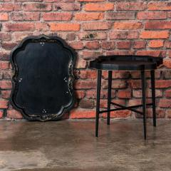 Small Black Painted Swedish Tray Table - 955423