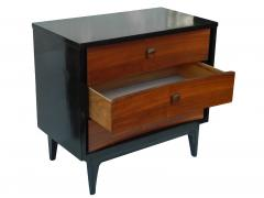 Small Black and Wood Dresser - 1855849