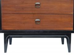 Small Black and Wood Dresser - 1855851