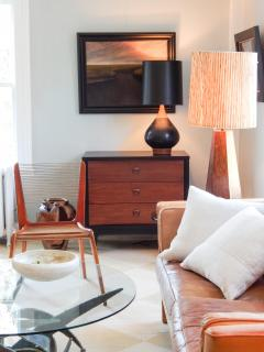 Small Black and Wood Dresser - 1855853