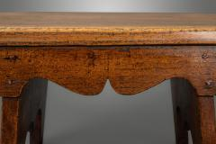 Small Boarded Elm 18th Century Stool of Trestle Design - 1674915