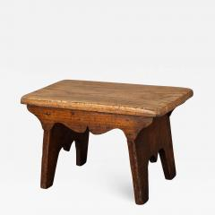 Small Boarded Elm 18th Century Stool of Trestle Design - 1676468