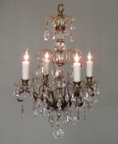 Small early 20th c italian bronze and crystal waterfall chandelier small early 20th c italian bronze and crystal waterfall chandelier 272410 aloadofball Gallery