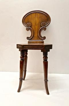 Small English Mahogany Hall Chairs - 1772957
