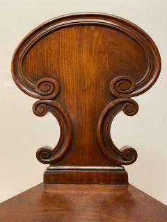 Small English Mahogany Hall Chairs - 1772961
