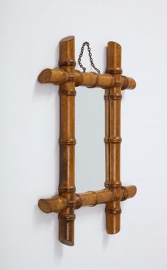 Small Faux Bamboo Mirror - 2060828