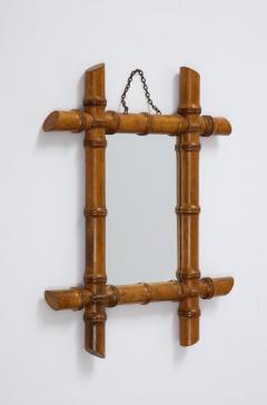 Small Faux Bamboo Mirror - 2060829