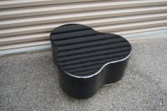 Small Free Form Black Lacquer Cocktail Table - 1148613