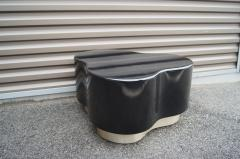 Small Free Form Black Lacquer Cocktail Table - 1148614