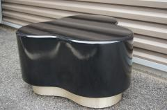 Small Free Form Black Lacquer Cocktail Table - 1148615