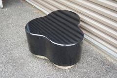 Small Free Form Black Lacquer Cocktail Table - 1148616