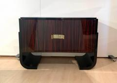 Small French Art Deco Sideboard Macassar and Black Lacquer 1930s - 1958746