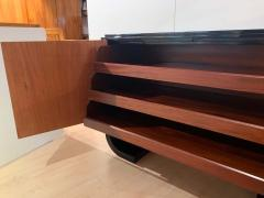 Small French Art Deco Sideboard Macassar and Black Lacquer 1930s - 1958747