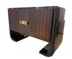 Small French Art Deco Sideboard Macassar and Black Lacquer 1930s - 1958749