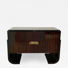 Small French Art Deco Sideboard Macassar and Black Lacquer 1930s - 1962623