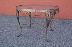 Small Handcrafted Wrought Iron Coffee Table - 2043688