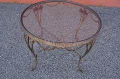 Small Handcrafted Wrought Iron Coffee Table - 2043689