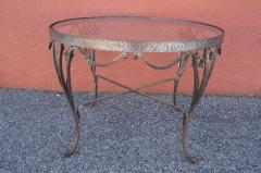 Small Handcrafted Wrought Iron Coffee Table - 2043691