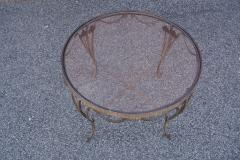 Small Handcrafted Wrought Iron Coffee Table - 2043703