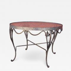 Small Handcrafted Wrought Iron Coffee Table - 2055482