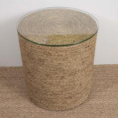 Small Rattan Wrapped Side Table - 1100331