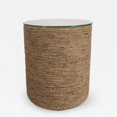 Small Rattan Wrapped Side Table - 1100953