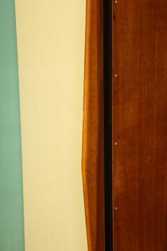 Small wardrobe with blue and cream enameled doors by Architect Van der Meeren - 815992