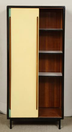 Small wardrobe with blue and cream enameled doors by Architect Van der Meeren - 815996