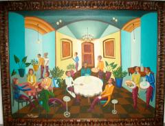 Smith Blanchard Surrealist Restaurant Scene with Mermaids - 1114022