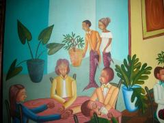 Smith Blanchard Surrealist Restaurant Scene with Mermaids - 1114023
