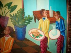 Smith Blanchard Surrealist Restaurant Scene with Mermaids - 1114024